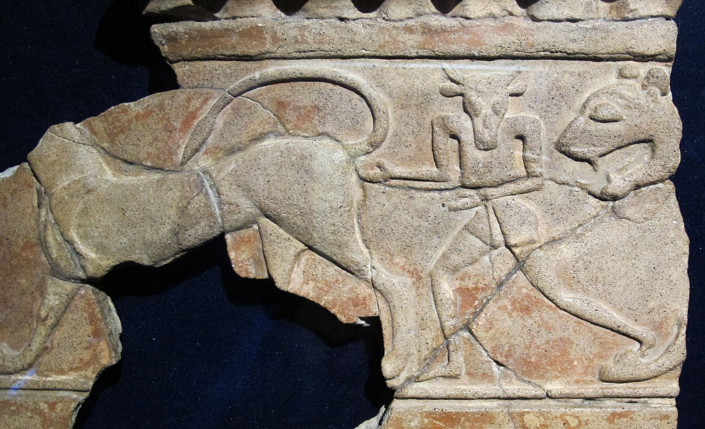 Fragment av fris från Regia – kungaresidenset.