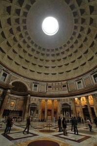 Pantheons kupol och occulus