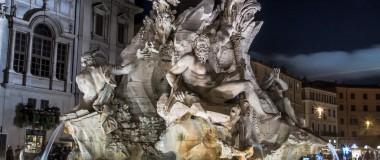 Kvällspromenad i Rom
