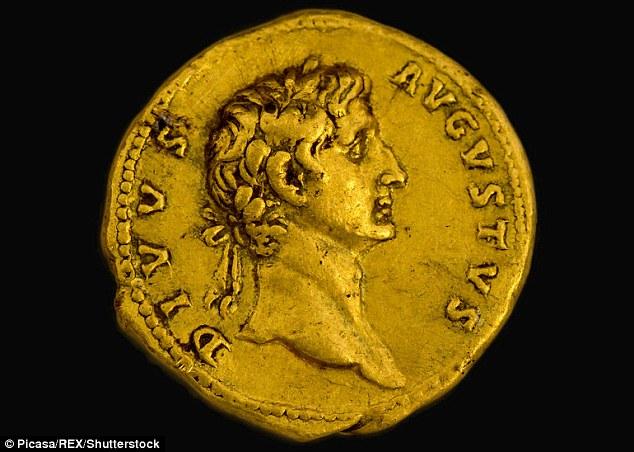 Mynt kejsar Augustus