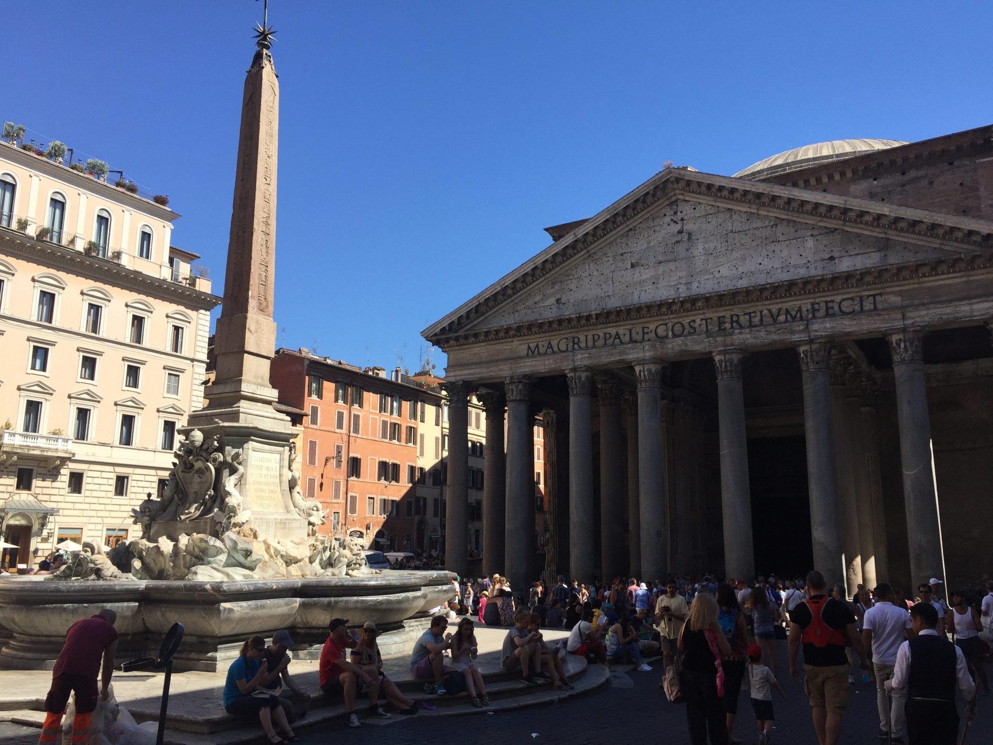 Pantheon fontän