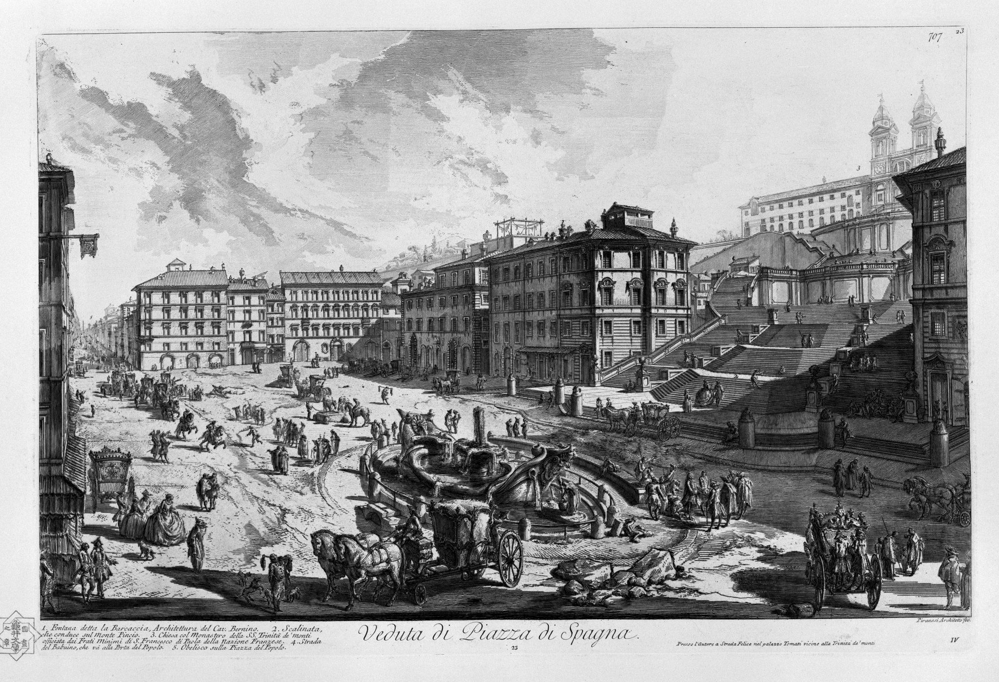 Spanska Trappan av Giovanni Battista Piranesi