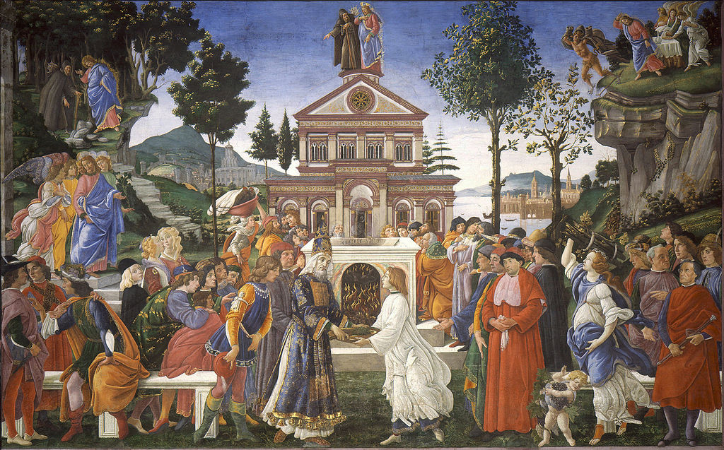 Jesu tre frestelser. Sandro Botticelli.