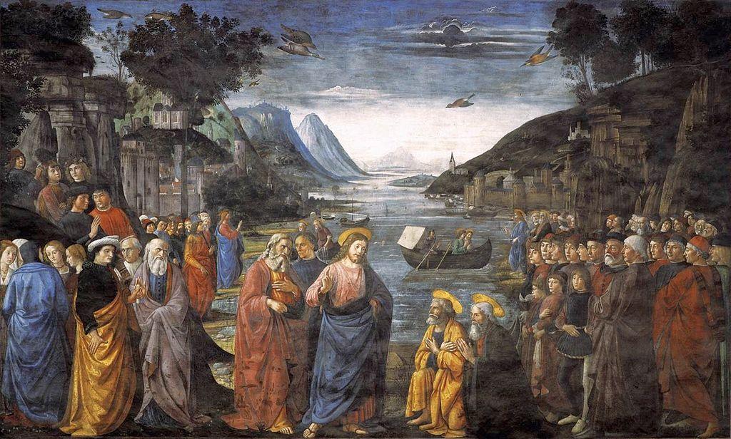 Kallandet av de fyra första apostlarna. Domenico Ghirlandaio