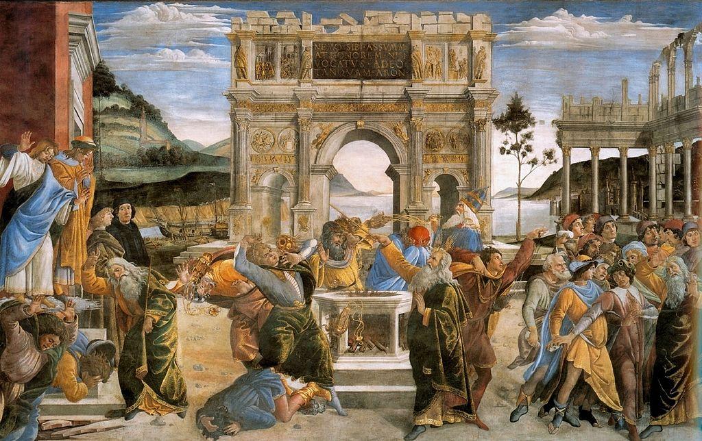 Straffandet av rebellerna. Sandro Botticelli.