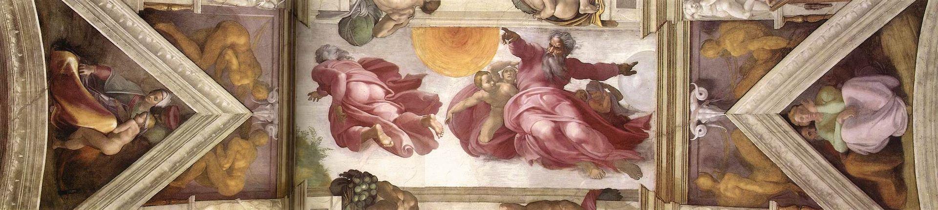 Gud skapar solen, månen och jorden