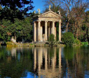 Konstgjord sjö Villa Borghese