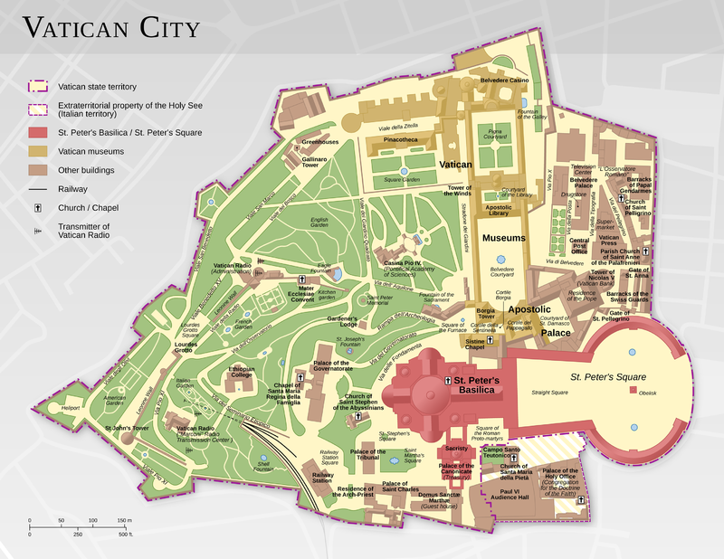 vatikanstaten karta