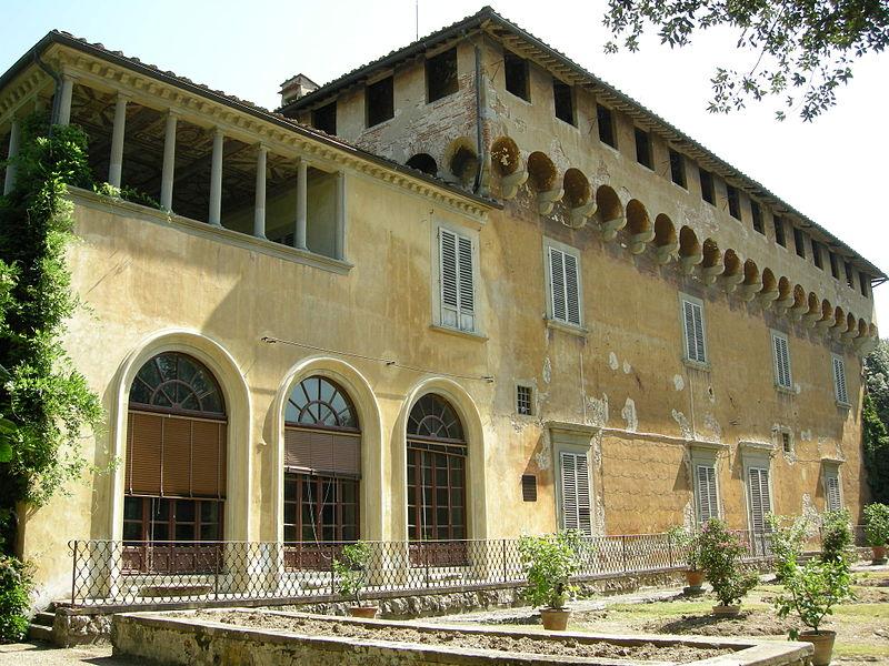 Familjen Medicis villa i Careggi, där Accademia Platonica höll sina sammankomster