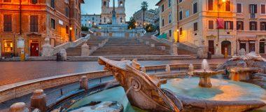 Det romantiska Rom vid spanska trappan