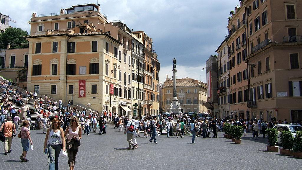 Colonna della Concezione Immacolata sedd från Piazza di Spagna