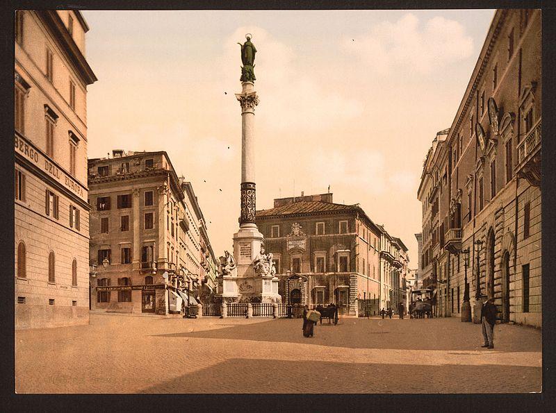 Piazza Mignanelli under sent 1800-tal