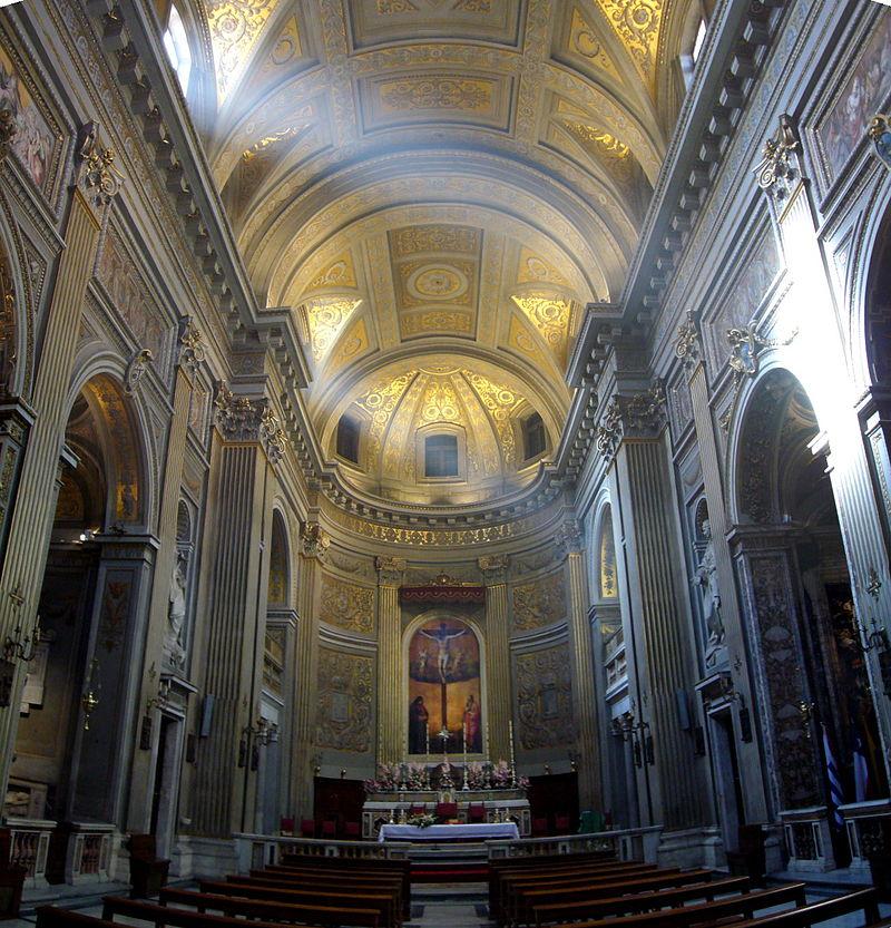 14b Långhuset i Santa Maria di Monserrato