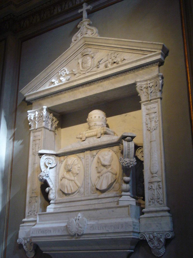 16 De bada Borgia-pavarnas gr avmonument i Cappella SDA