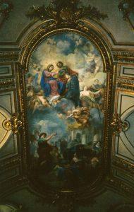 Takplafond i San Giovanni di Calibita, målad av Corrado Giaquinto och färdigställd 1742